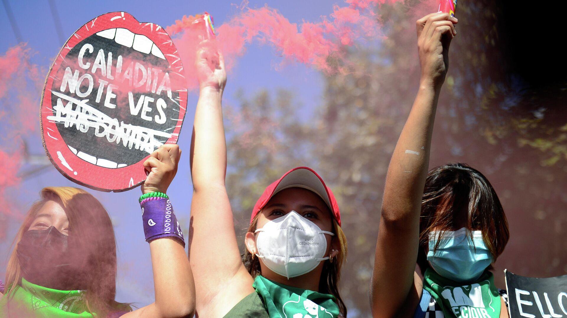Marcha contra femicidios y violencia contra la mujer en El Salvador - Sputnik Mundo, 1920, 08.03.2021