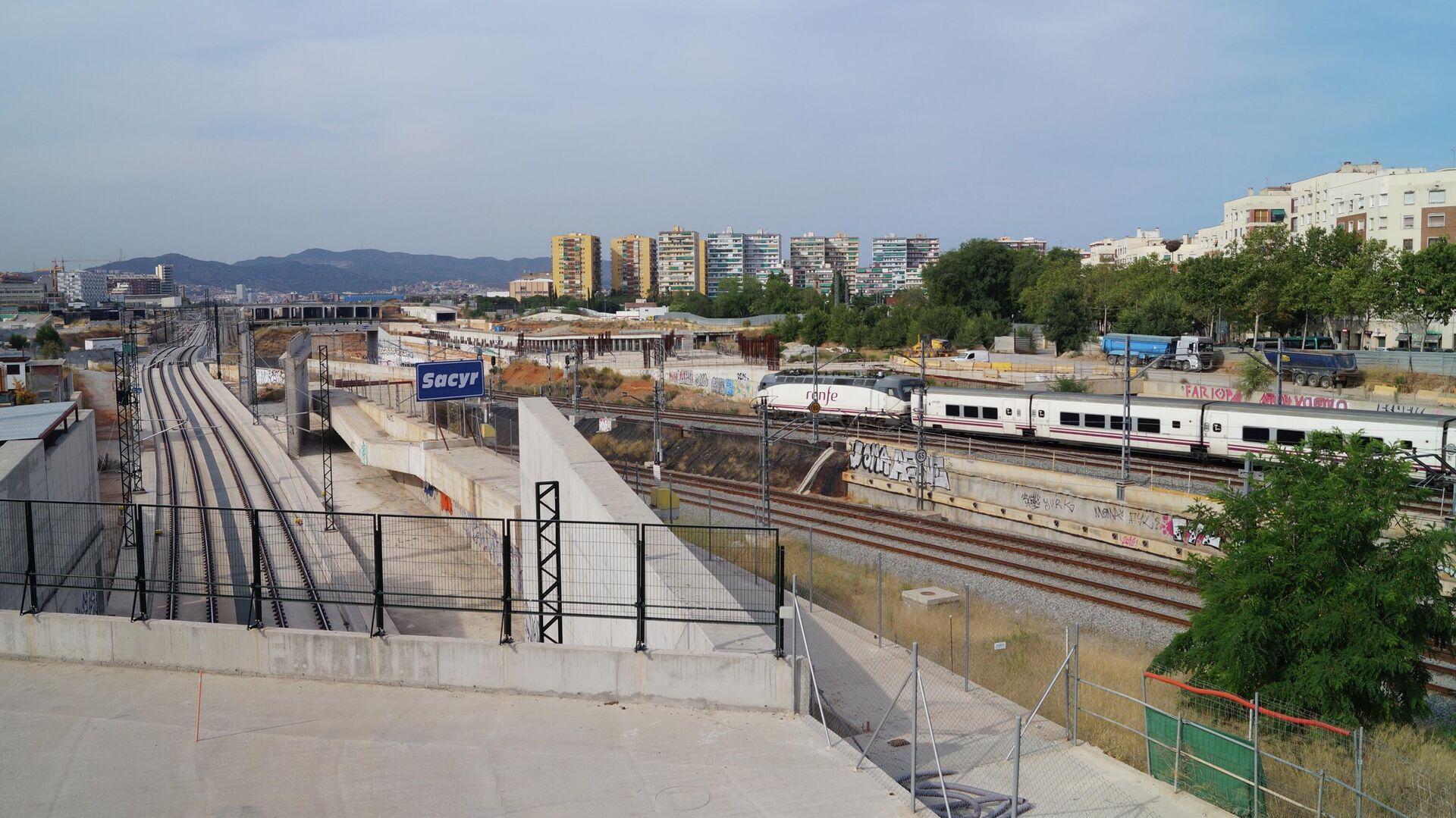 Trenes en la estación de la Sagrera-Meridiana (Barcelona) - Sputnik Mundo, 1920, 09.03.2021