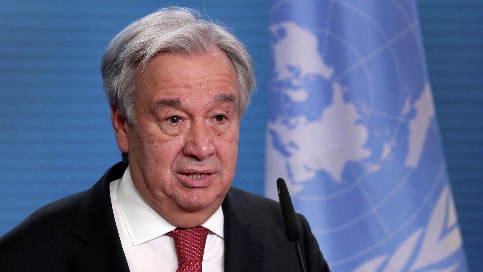 António Guterres, secretario general de la ONU - Sputnik Mundo, 1920, 09.03.2021