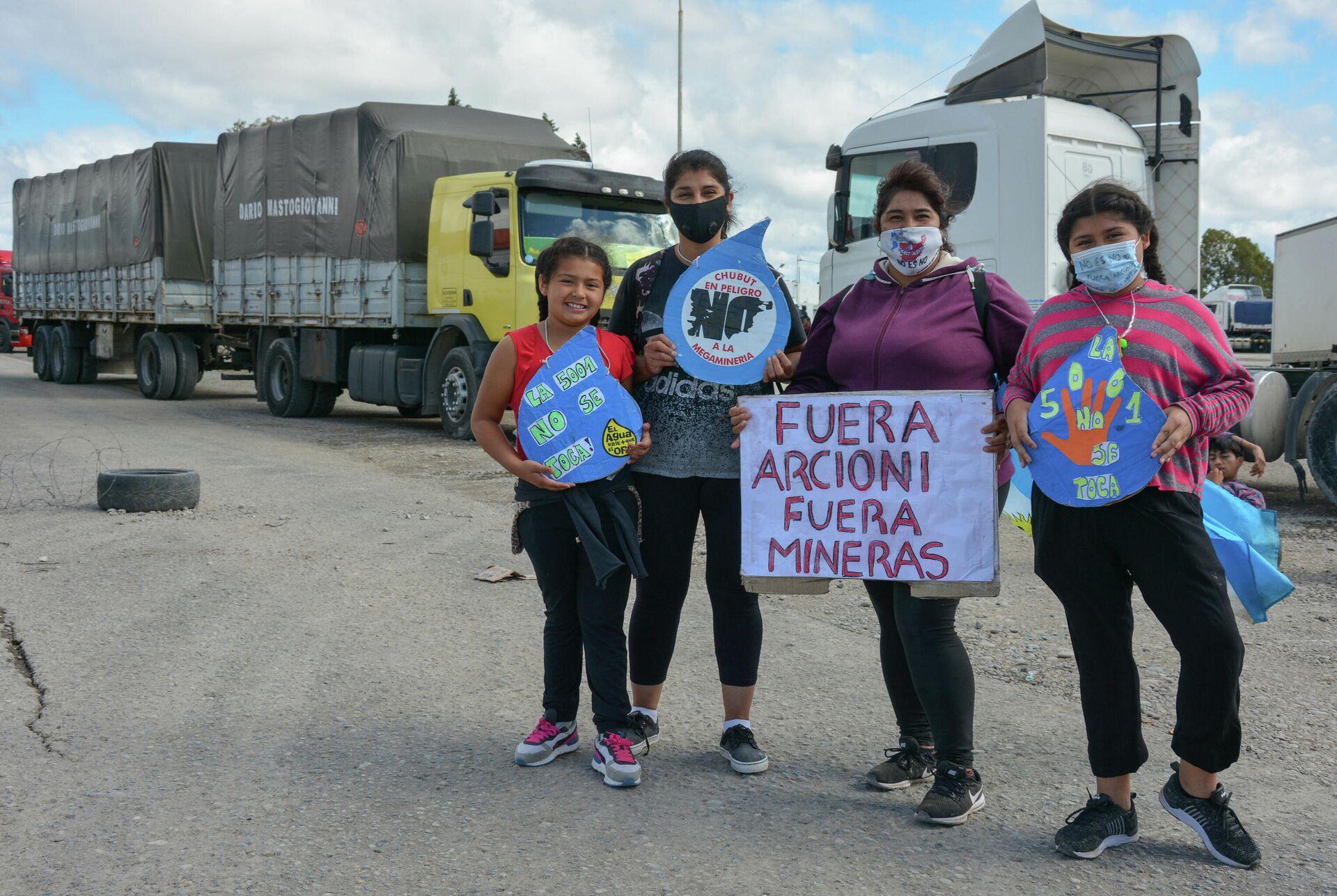 Cortes de ruta y movilizaciones en Chubut para rechazar la megaminería - Sputnik Mundo, 1920, 09.03.2021