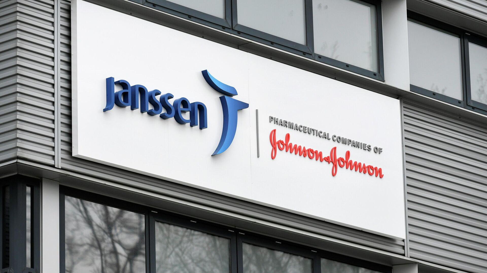 El logo de la compañía Janssen-Cilag, subsidiaria de Johnson & Johnson - Sputnik Mundo, 1920, 31.03.2021