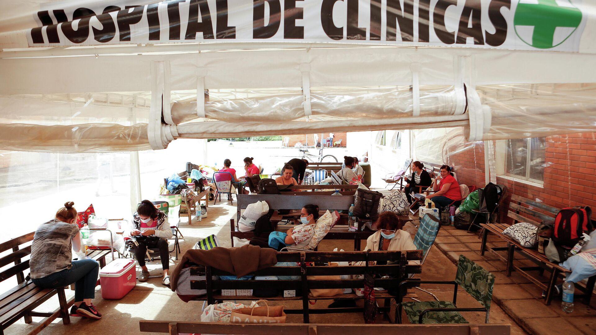 Pacientes con COVID-19 en el Hospital de Clinicas en San Lorenzo, Paraguay - Sputnik Mundo, 1920, 19.03.2021