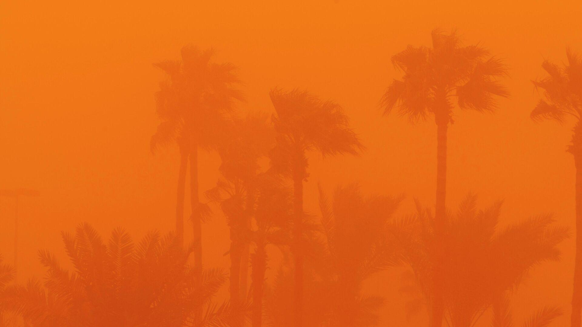 Una tormenta de arena en Arabia Saudi en 2009 - Sputnik Mundo, 1920, 15.03.2021