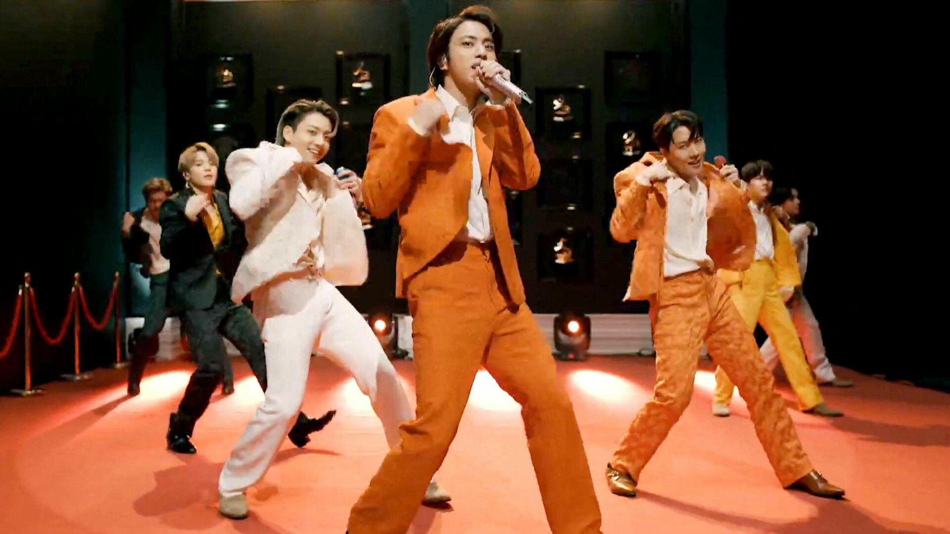 Banda surcoreana BTS en los premios Grammy 2021 - Sputnik Mundo, 1920, 17.03.2021