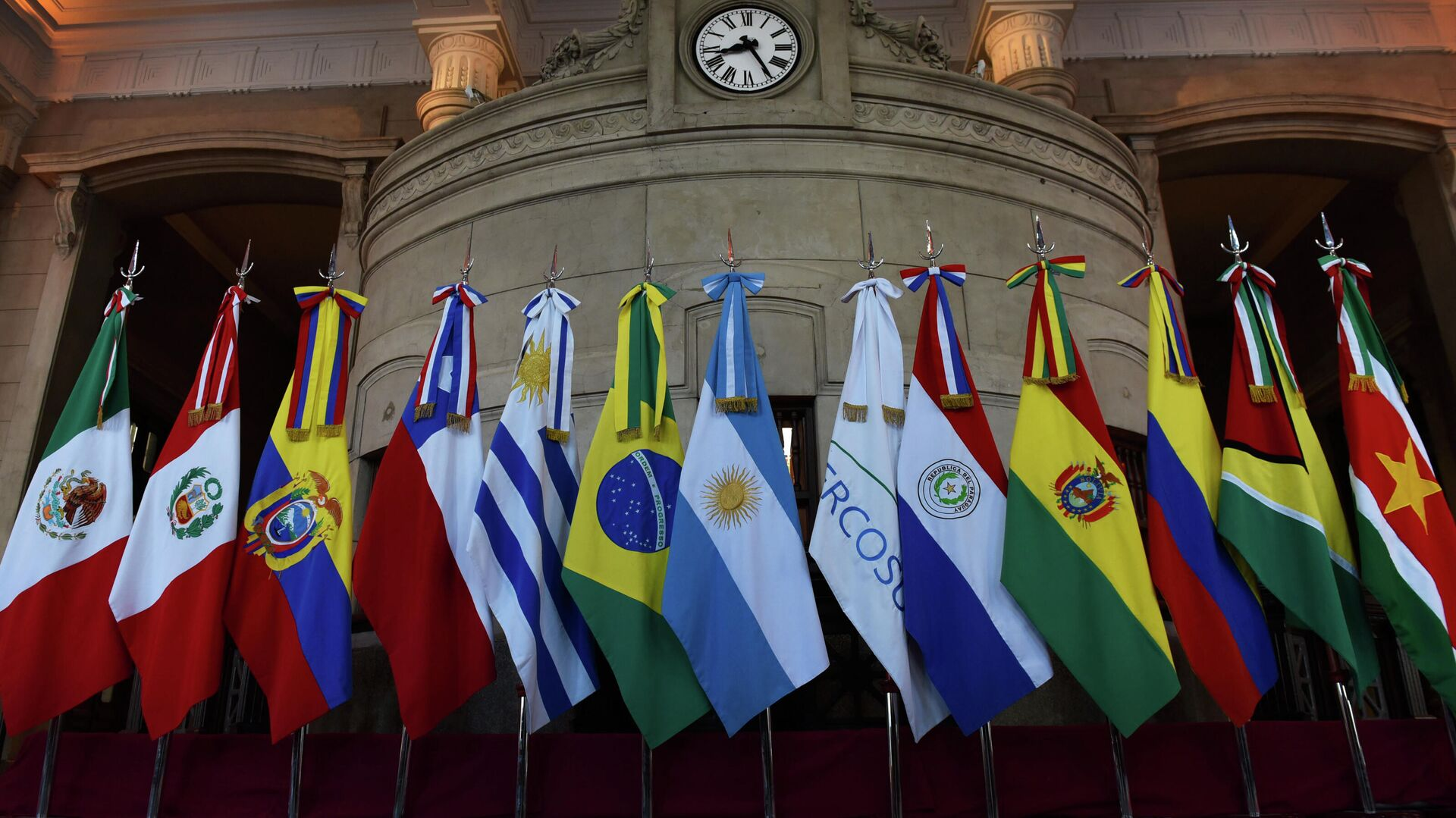 Banderas de miembros del Mercosur y Estados asociados - Sputnik Mundo, 1920, 12.10.2021