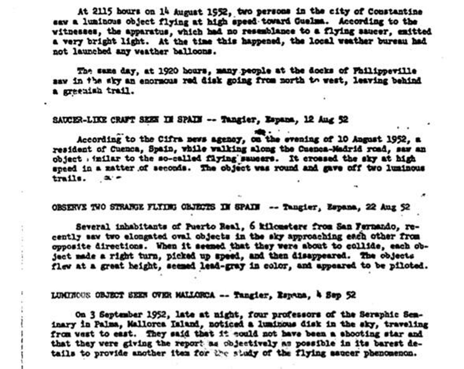 Un fragmento del informe de la CIA sobre los acontecimientos en Cádiz en 1952 - Sputnik Mundo, 1920, 17.03.2021