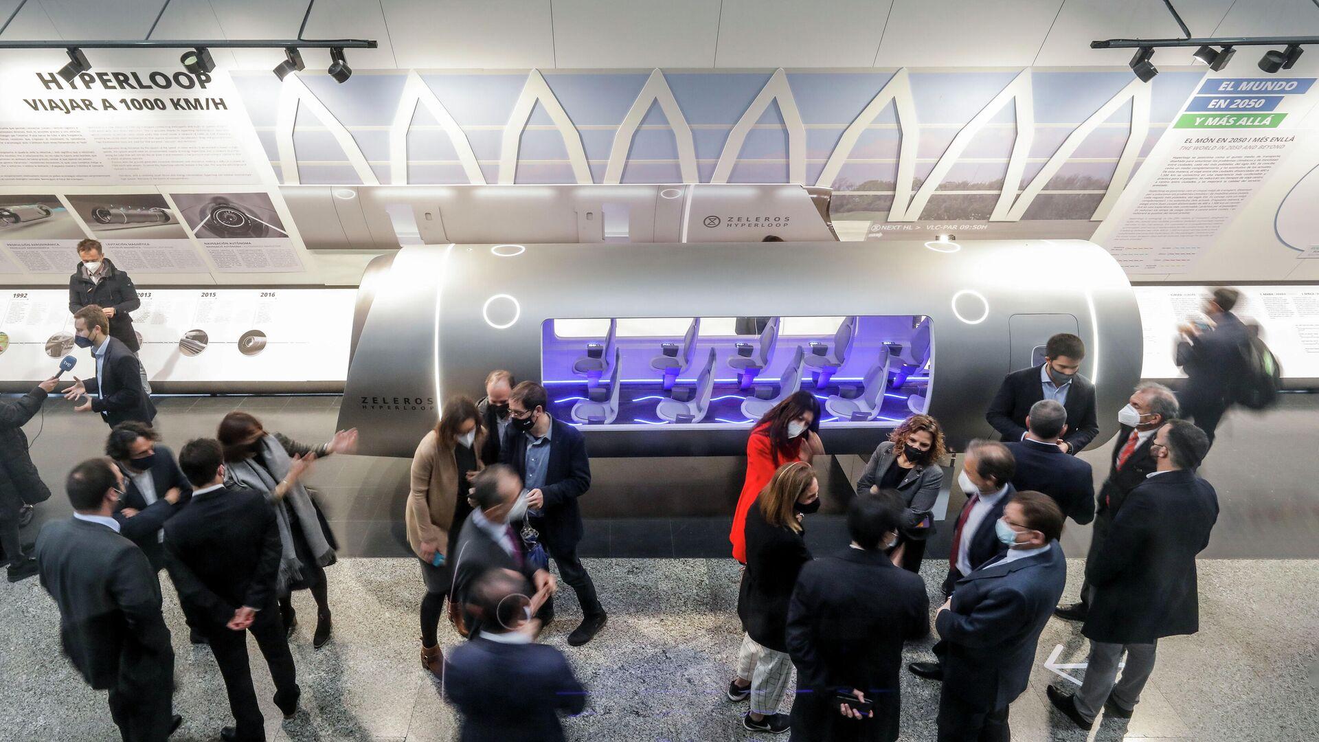 Presentación del vehículo Hyperloop de la empresa Zeleros en Valencia - Sputnik Mundo, 1920, 18.03.2021