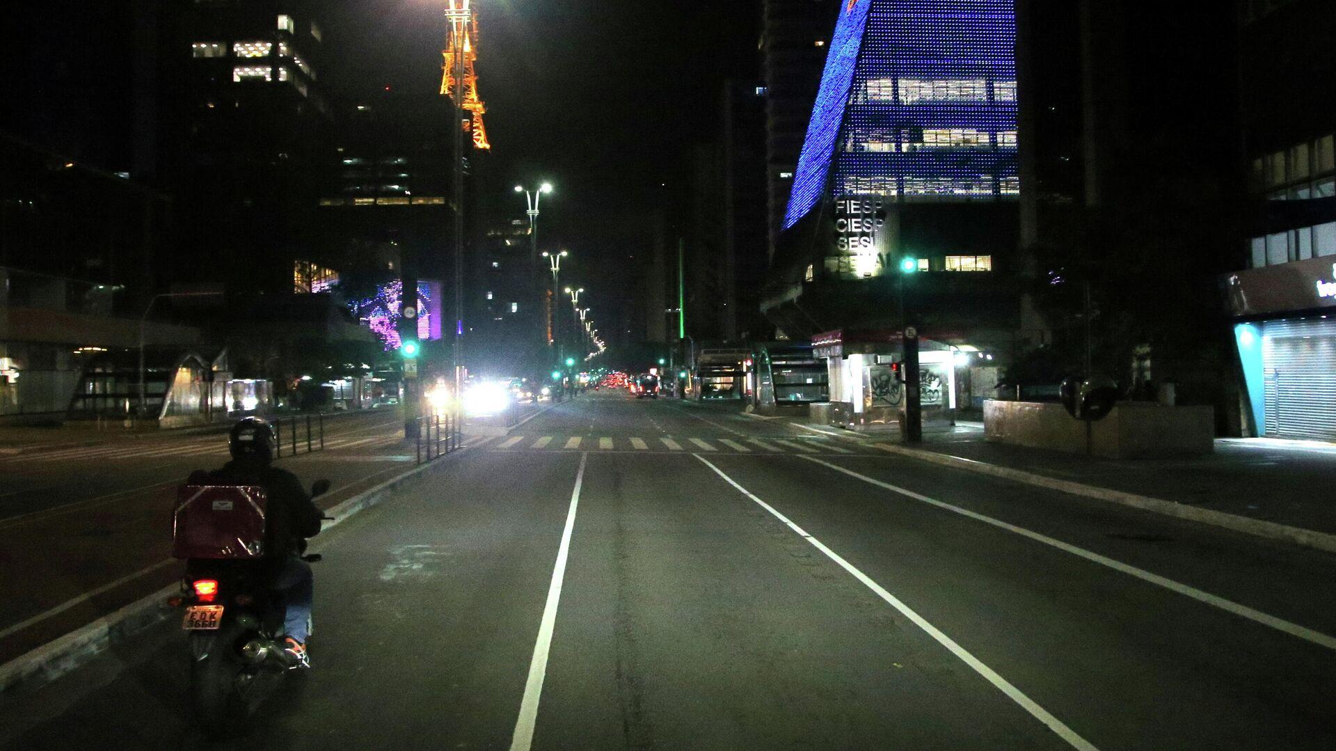 Unas calles vacías de Sao Paulo, Brasil - Sputnik Mundo, 1920, 18.03.2021