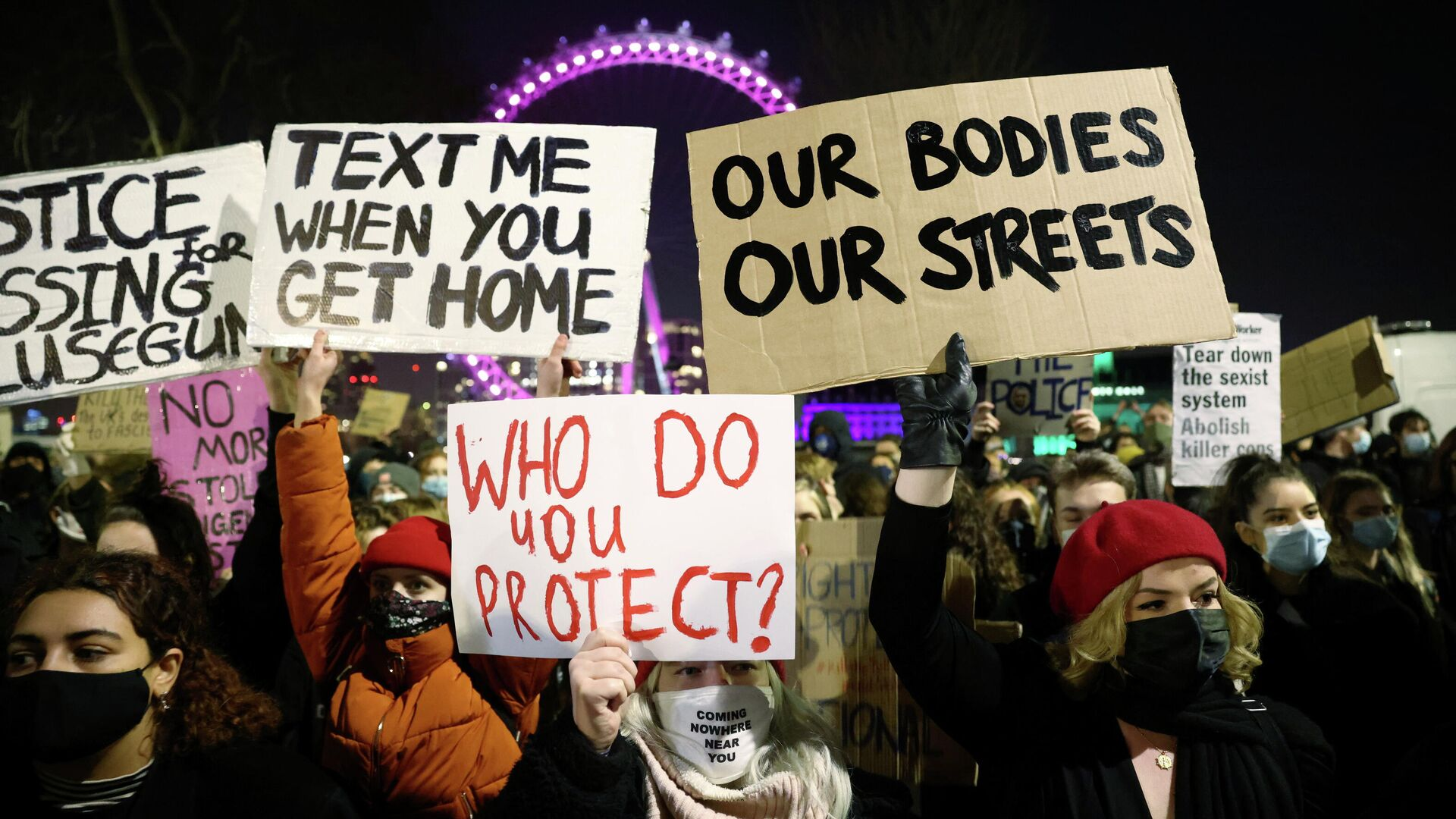 Protestas en Londres, tras el asesinato de Sarah Everard - Sputnik Mundo, 1920, 19.03.2021