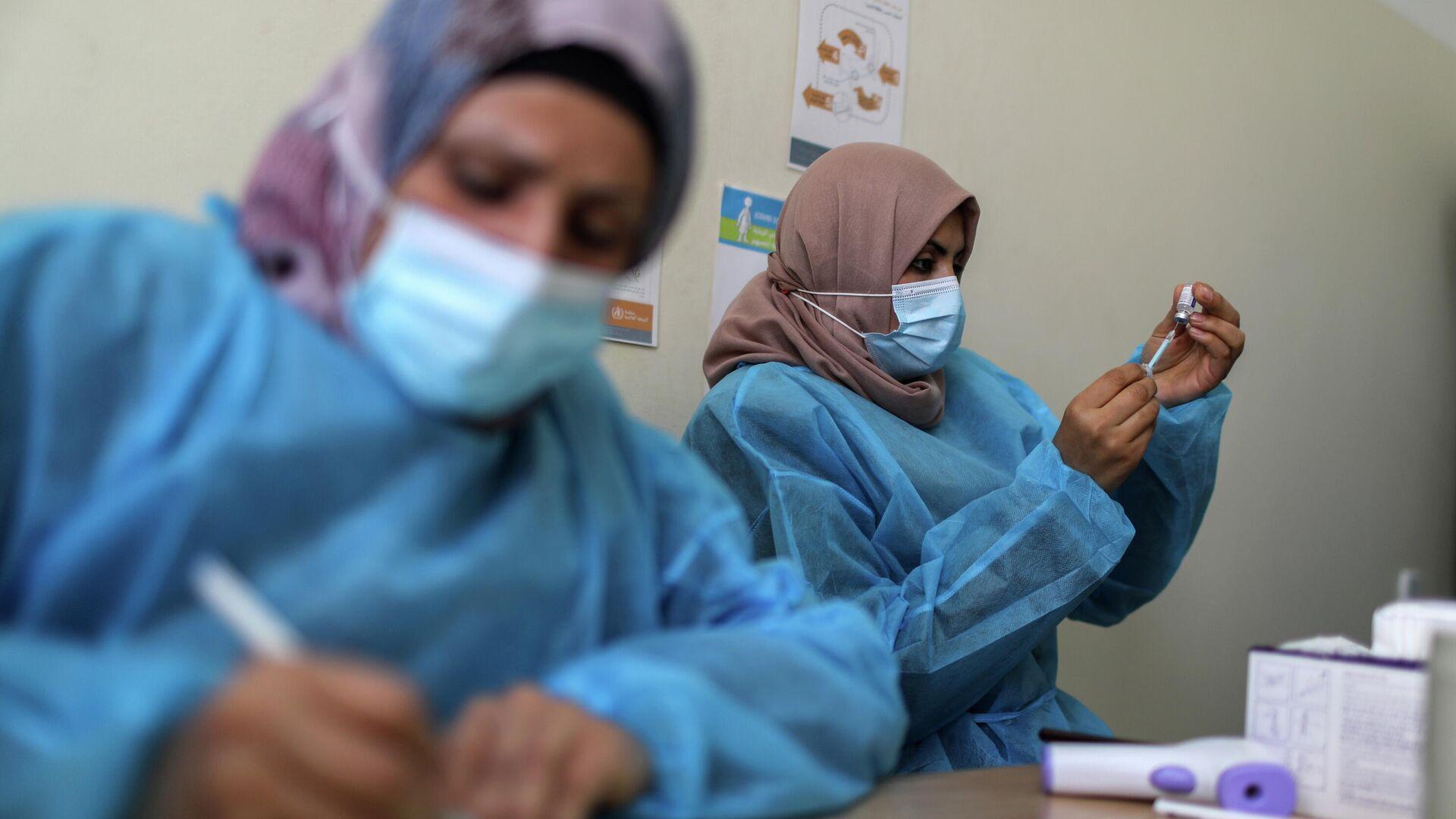 Vacunación en Gaza - Sputnik Mundo, 1920, 21.03.2021