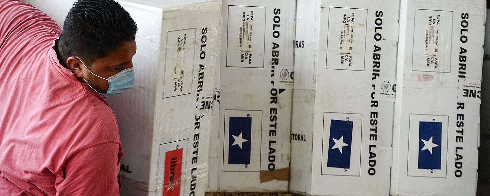 Escrutinio de los votos en las elecciones primarias de Honduras - Sputnik Mundo, 1920, 23.03.2021