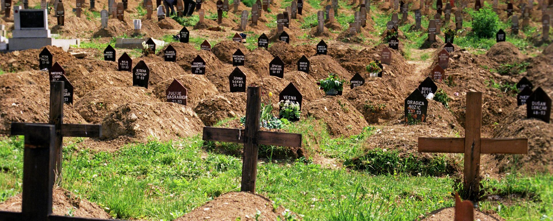 Un cementerio de Sarajevo, con restos de víctimas de la guerra en Yugoslavia - Sputnik Mundo, 1920, 24.03.2021