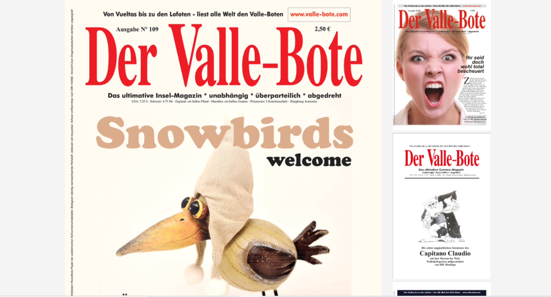 Varias portadas de la revista en alemán Der Valle-Bote, de La Gomera - Sputnik Mundo, 1920, 25.03.2021