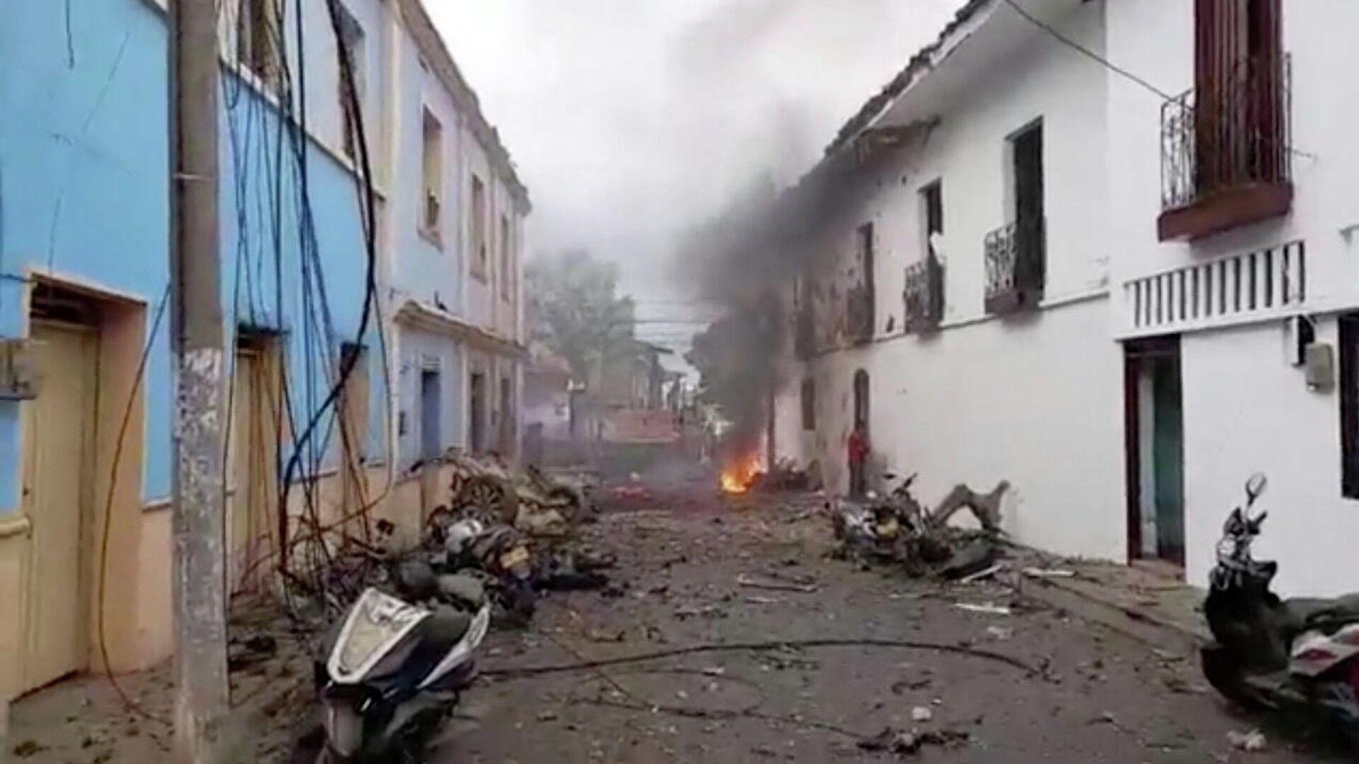 Lugar de explosión en la ciudad colombiana de Corinto - Sputnik Mundo, 1920, 26.03.2021