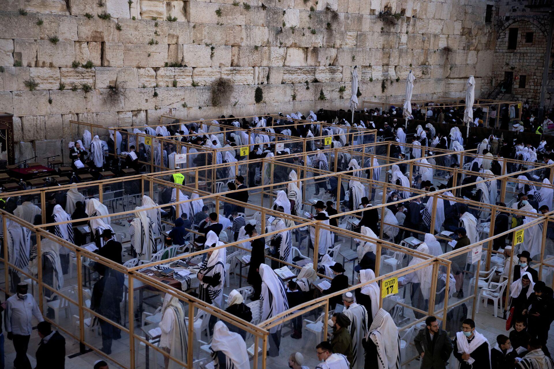La ceremonia de Pascua judía en Jerusalén, el 29 de marzo de 2021 - Sputnik Mundo, 1920, 29.03.2021