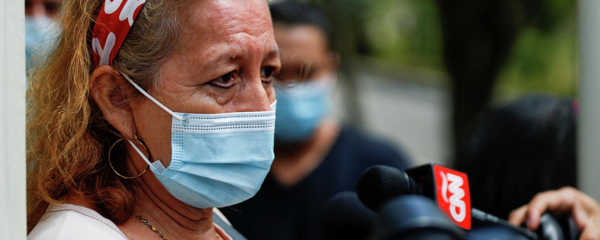 Rosibel Arriaza, madre de Victoria Salazar, la mujer salvadoreña que murió siendo arrestada por la Policía mexicana - Sputnik Mundo, 1920, 29.03.2021