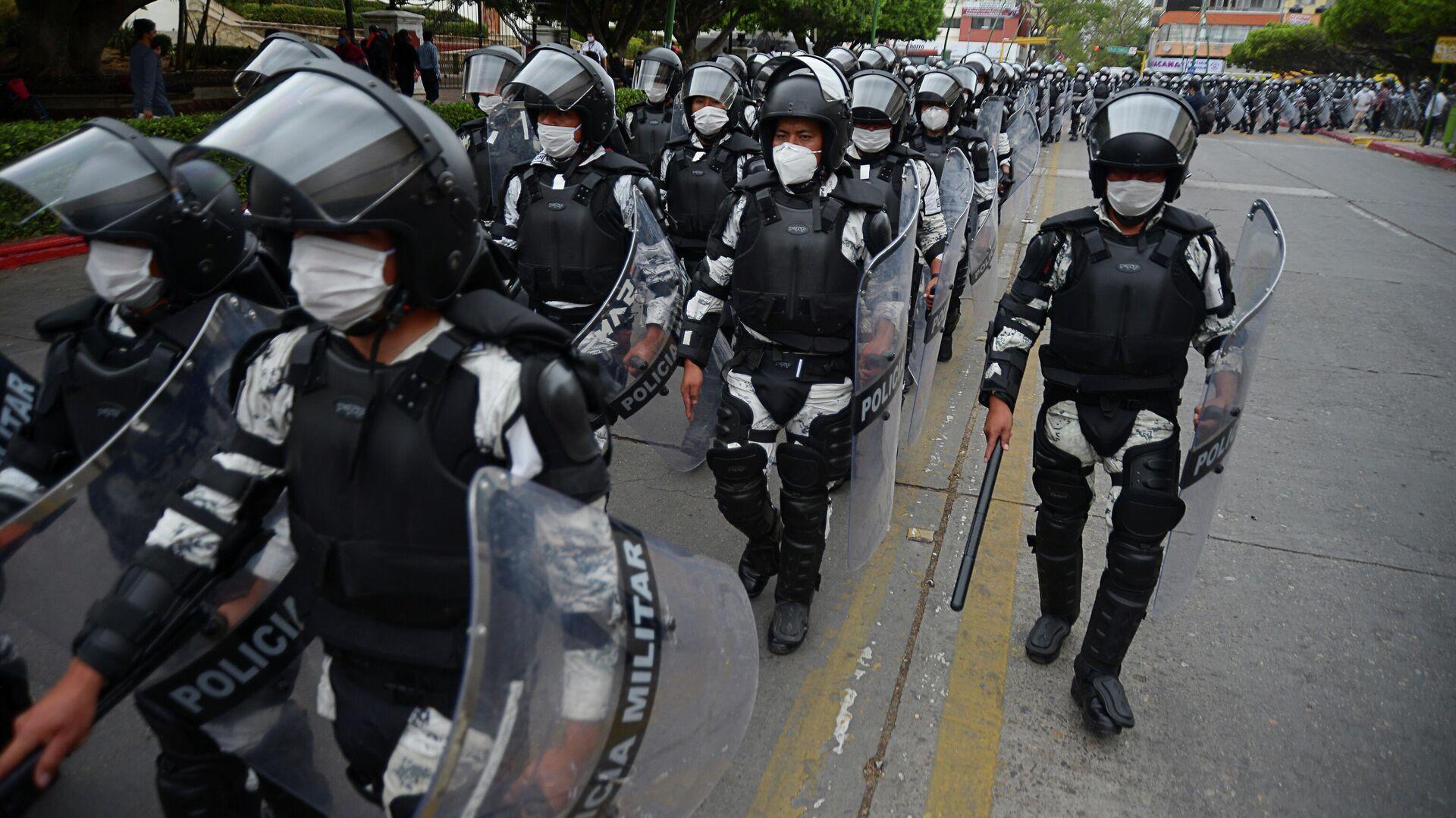 La Policía militar en la frontera entre Guatemala y México - Sputnik Mundo, 1920, 30.03.2021