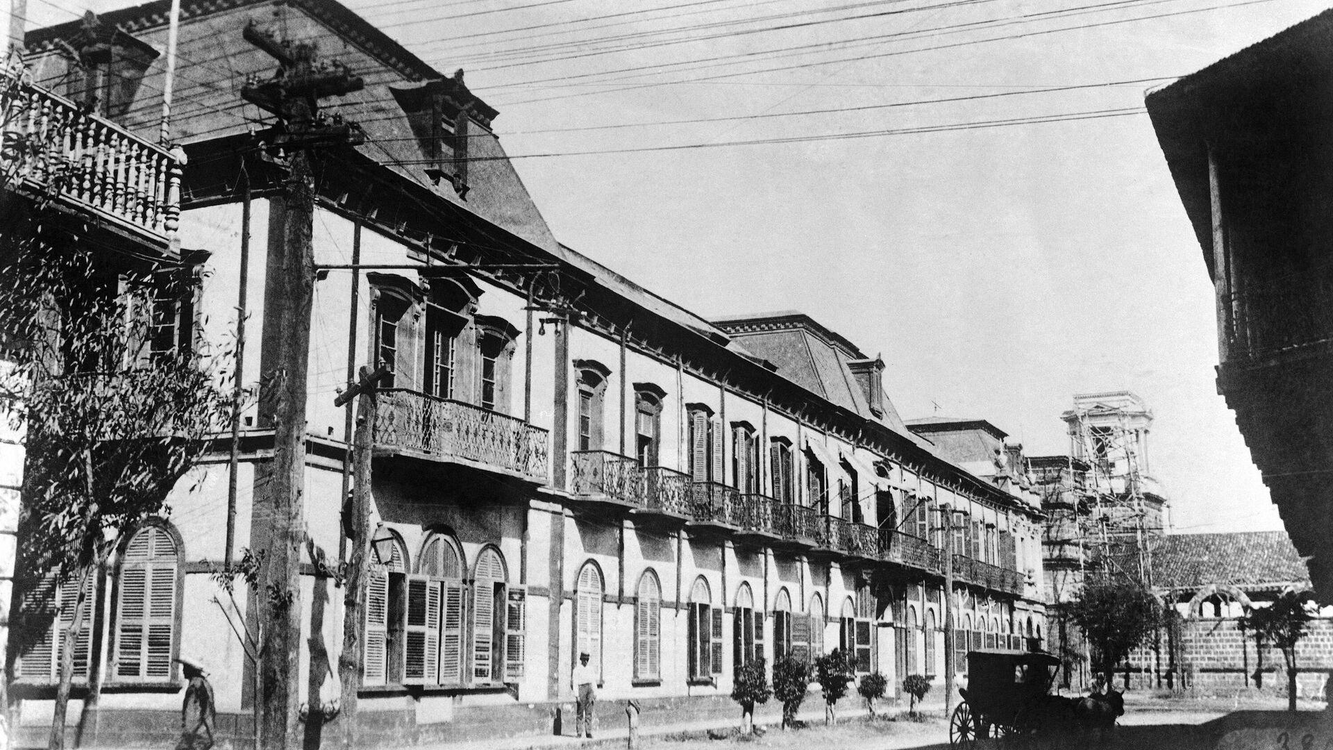 El Palacio Nacional de Managua en 1931, antes de ser golpeado por el terremoto del 31 de marzo - Sputnik Mundo, 1920, 30.03.2021