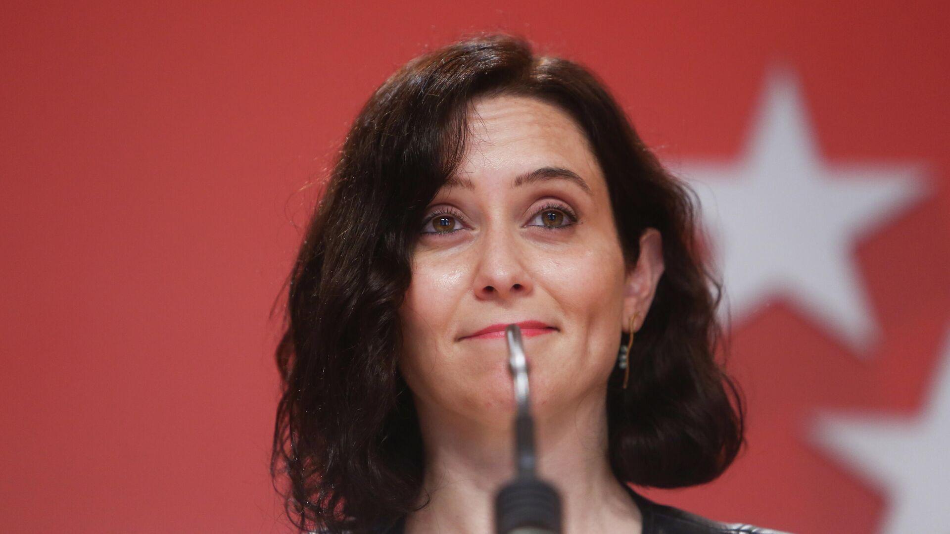Isabel Díaz Ayuso, presidenta de la Comunidad de Madrid y candidata a la reelección - Sputnik Mundo, 1920, 29.09.2021