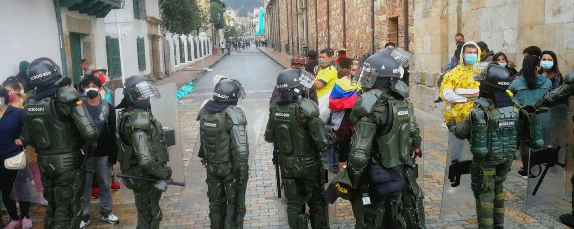 La Policía colombiana se desplegó en la jornada de protestas - Sputnik Mundo, 1920, 24.07.2021