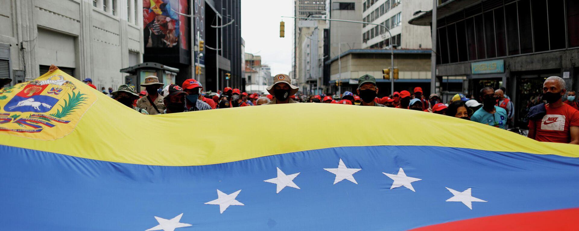 La bandera opositora de Venezuela - Sputnik Mundo, 1920, 13.05.2021