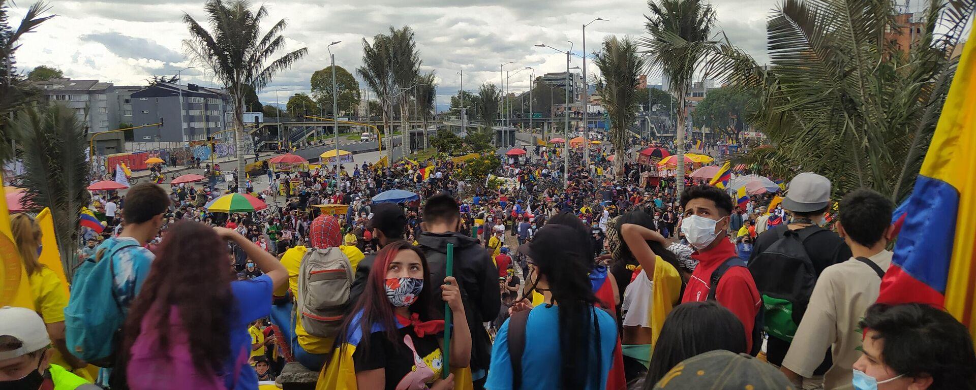 Protestas en Bogotá - Sputnik Mundo, 1920, 02.09.2021