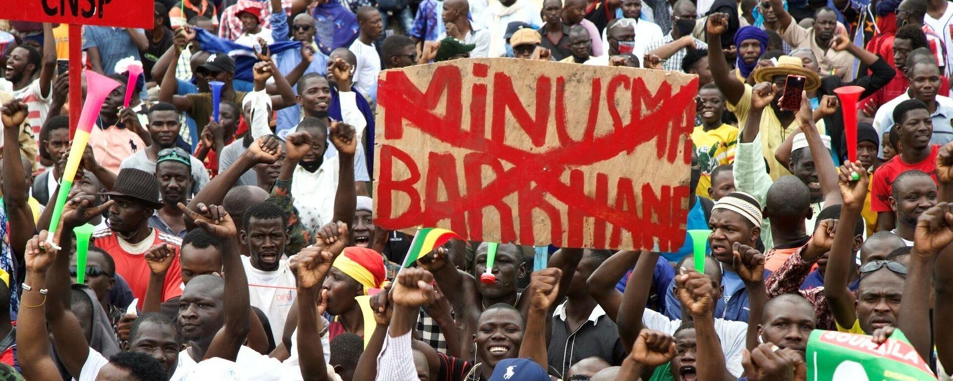 Manifestación en Bamako en apoyo del Ejército de Mali - Sputnik Mundo, 1920, 24.05.2021