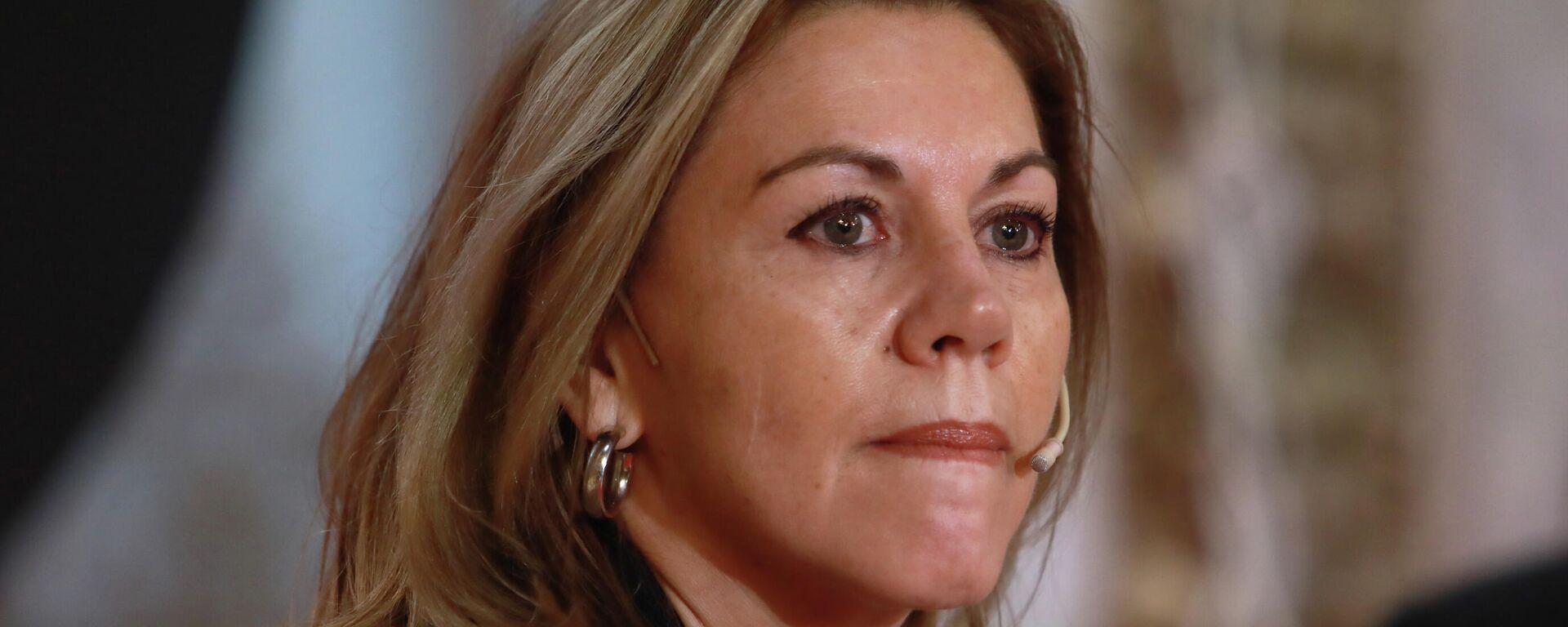 María Dolores de Cospedal, la exministra española de Defensa y antigua dirigente del Partido Popular - Sputnik Mundo, 1920, 02.06.2021