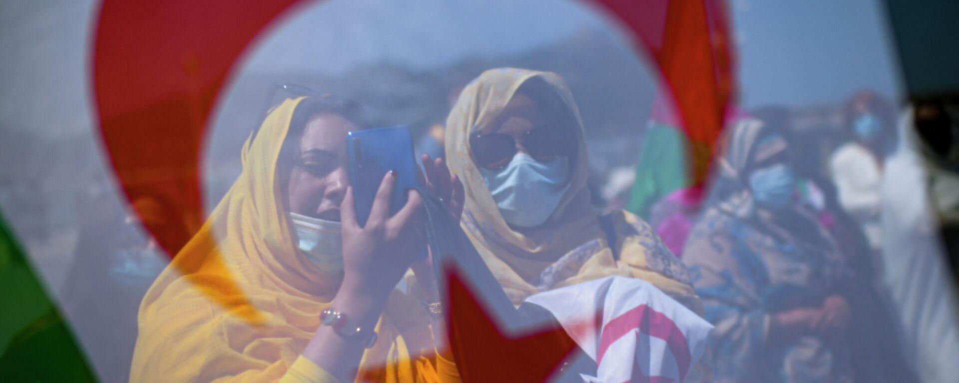 Manifestantes saharauies - Sputnik Mundo, 1920, 01.10.2021