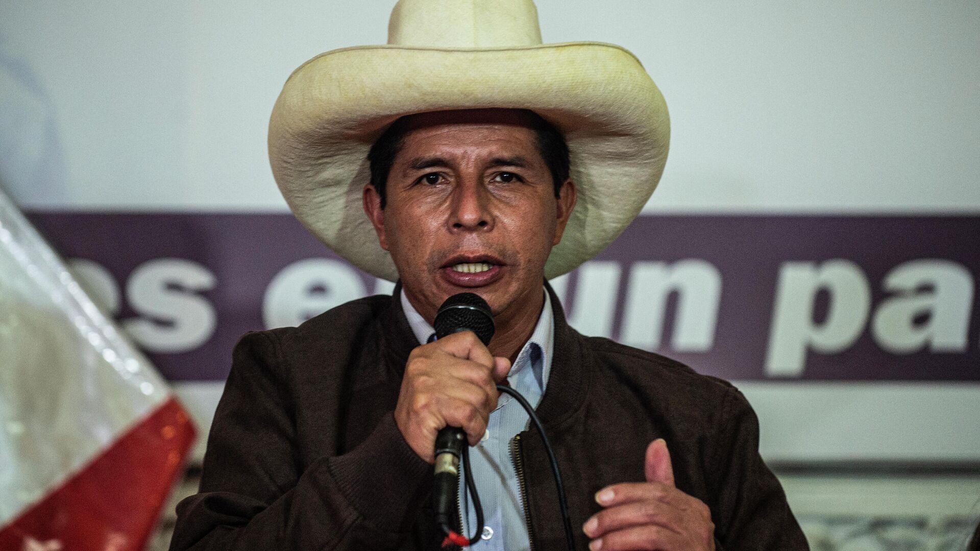Pedro Castillo, presidente electo de Perú - Sputnik Mundo, 1920, 05.10.2021