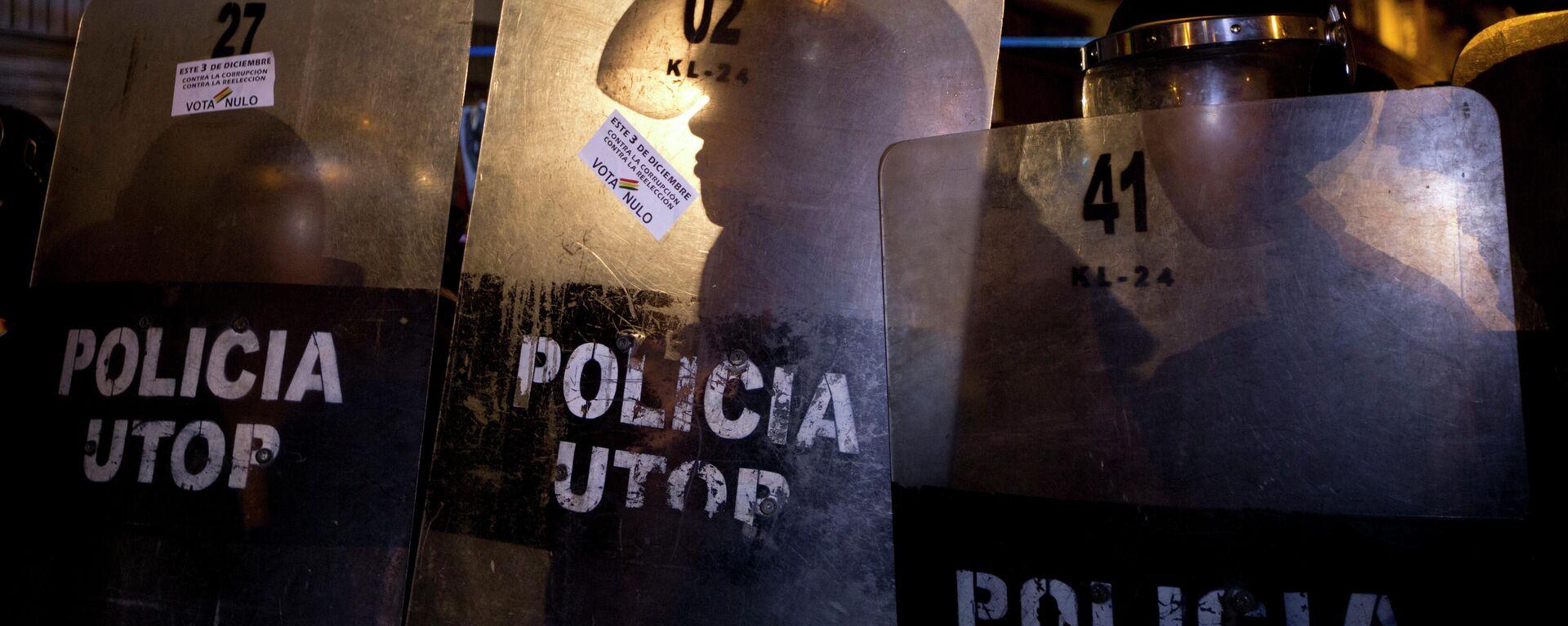 Policías bolivianos - Sputnik Mundo, 1920, 07.09.2021