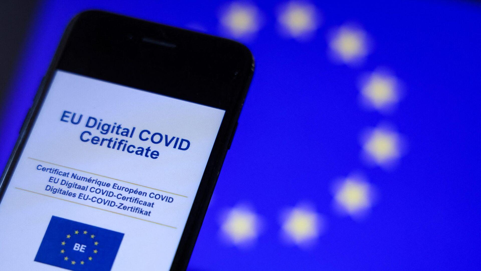 Certificado COVID digital de la Unión Europea - Sputnik Mundo, 1920, 06.08.2021