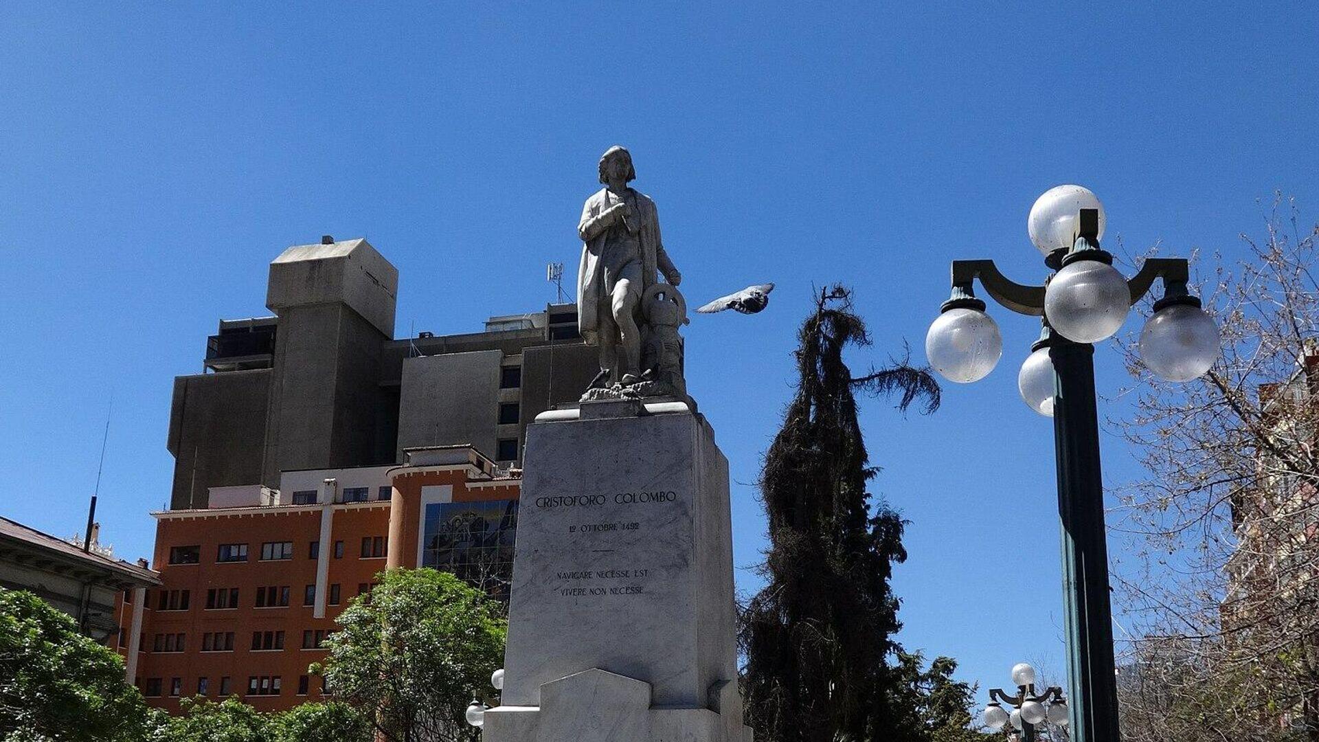 Monumento a Cristóbal Colón en el Paseo del Prado, La Paz, Bolivia - Sputnik Mundo, 1920, 02.08.2021