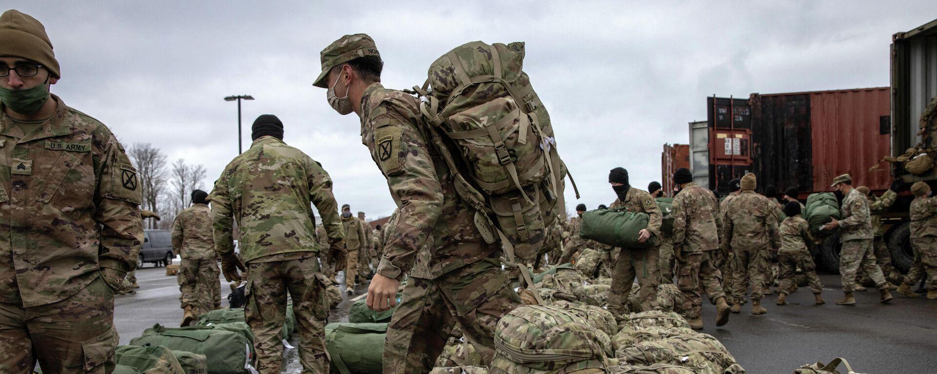 Soldados estadounidenses a su vuelta de Afganistán - Sputnik Mundo, 1920, 09.07.2021