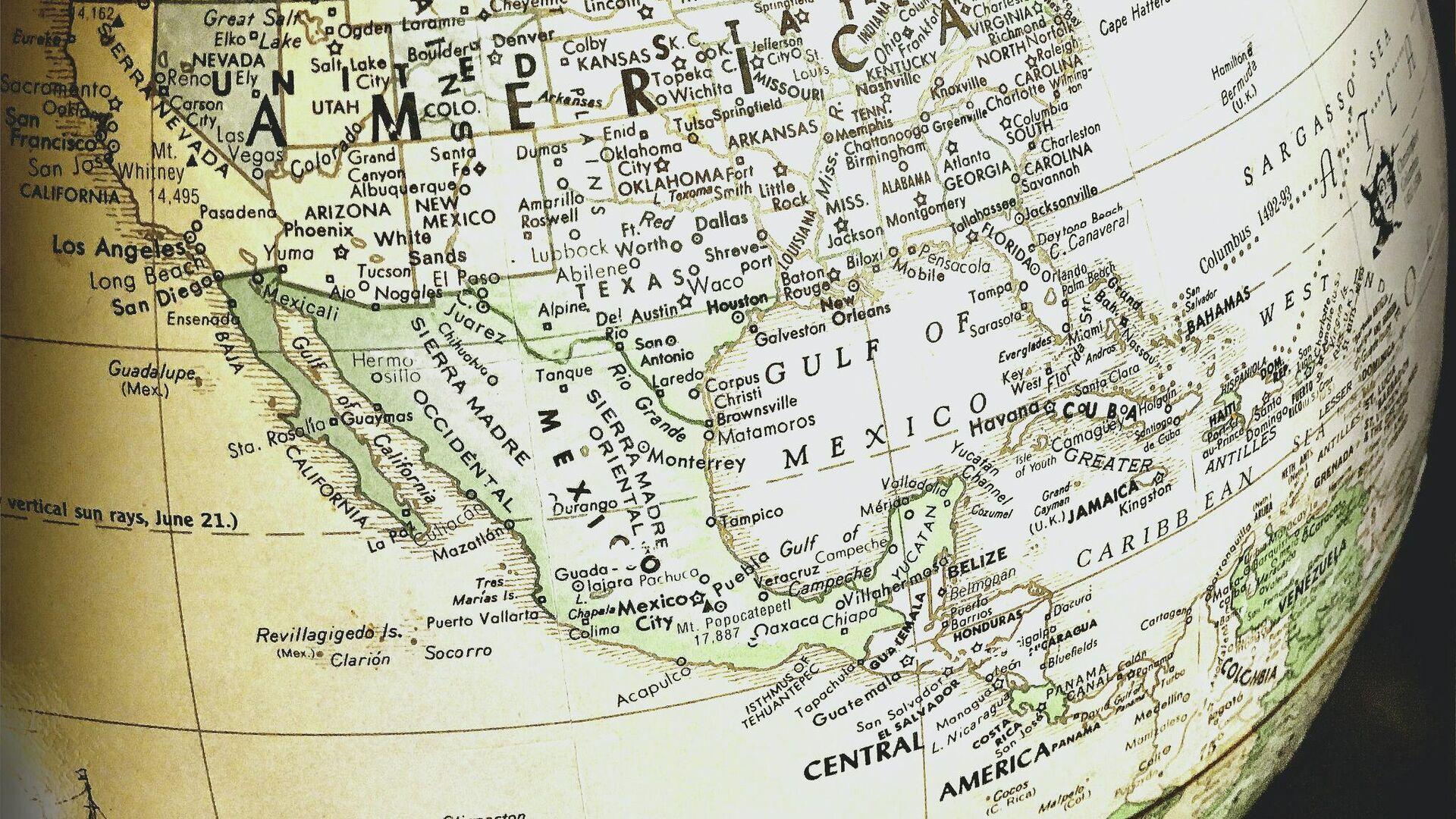 Mapa de Centroamérica - Sputnik Mundo, 1920, 21.09.2021