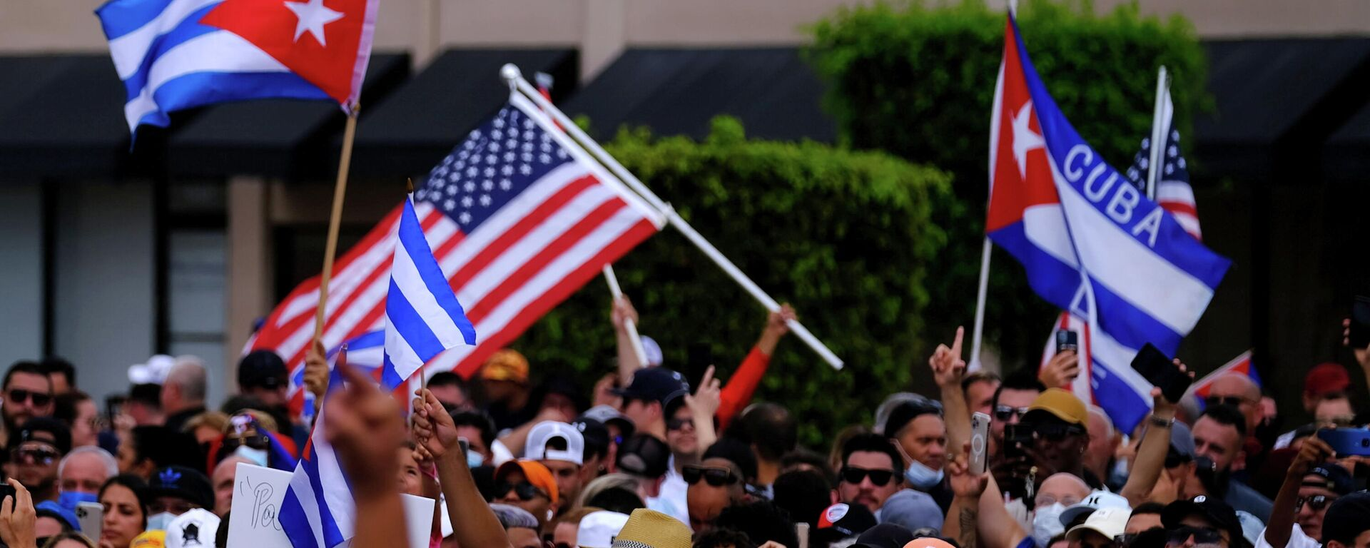 Protestas de los cubanos en Miami - Sputnik Mundo, 1920, 15.07.2021