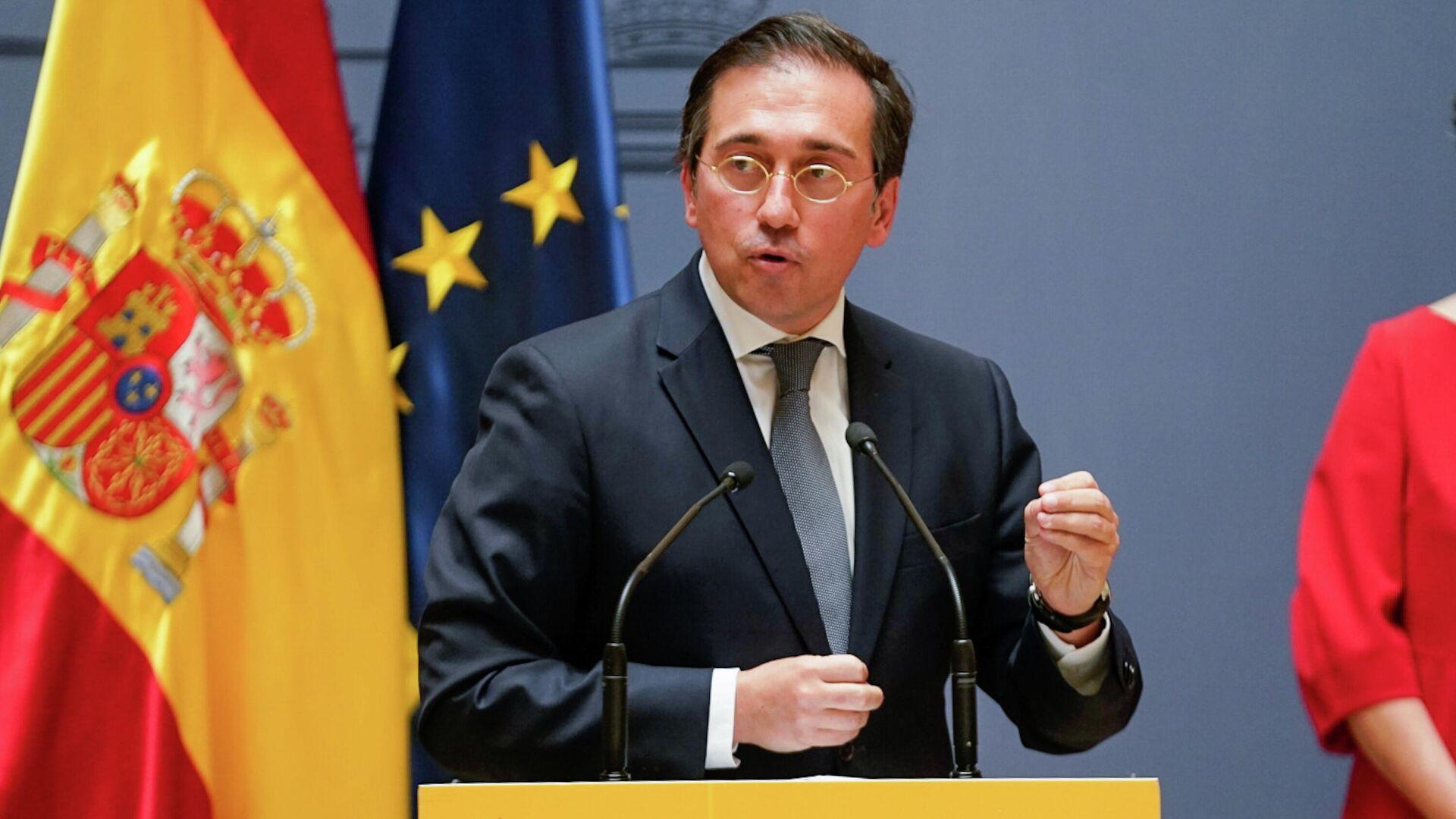 El ministro de Asuntos Exteriores de España, José Manuel Albares - Sputnik Mundo, 1920, 14.09.2021