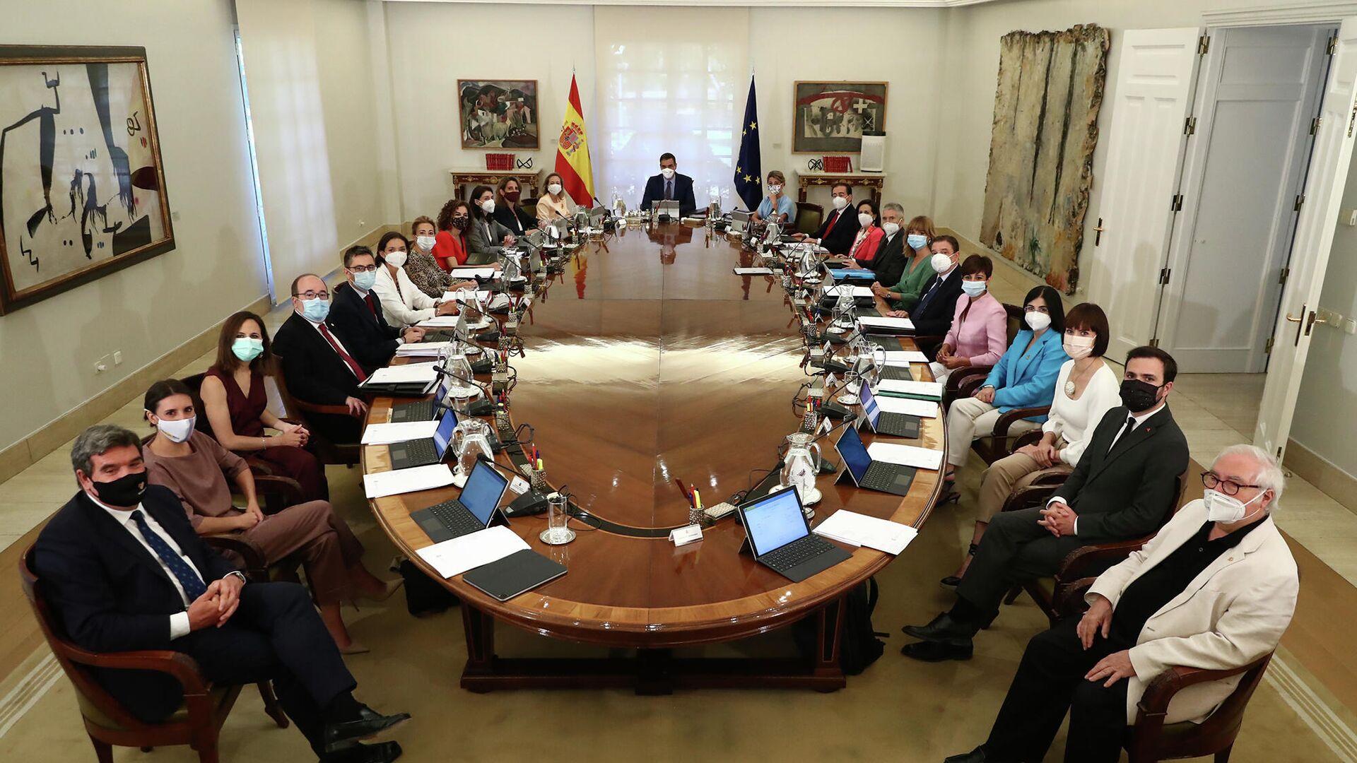 Reunión del Consejo de Ministros de España del 13 de julio de 2021 - Sputnik Mundo, 1920, 05.10.2021