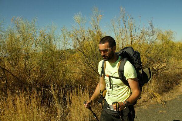 Pedro hidalgo en su Camino a Santiago (Vía de la Plata) - Sputnik Mundo