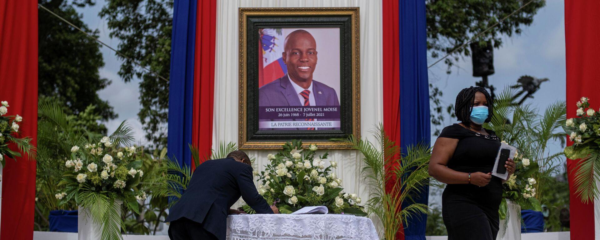 Ceremonioa en honor al expresidente de Haití, Jovenel Moise - Sputnik Mundo, 1920, 10.08.2021