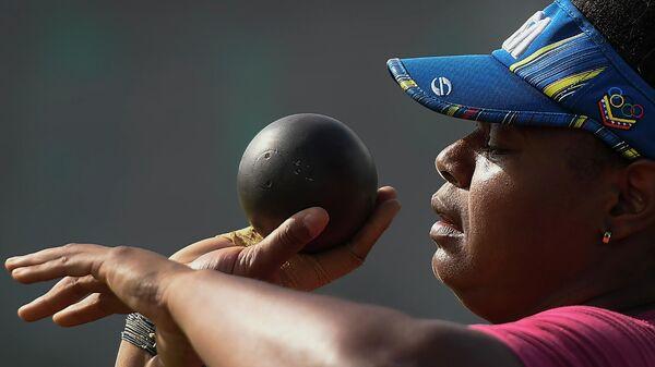 Ahymara Espinoza, atleta venezolana de lanzamiento de bala - Sputnik Mundo