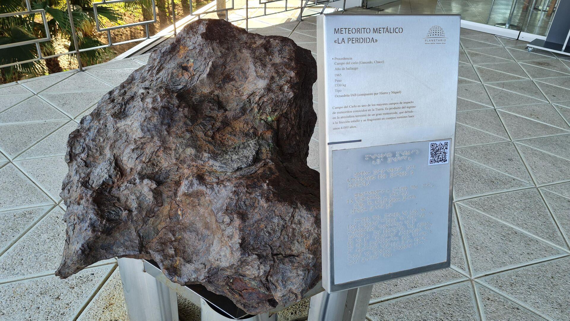 El meteorito metálico apodado 'La Perdida' fue encontrado en 1965 en la provincia del Chaco - Sputnik Mundo, 1920, 23.07.2021