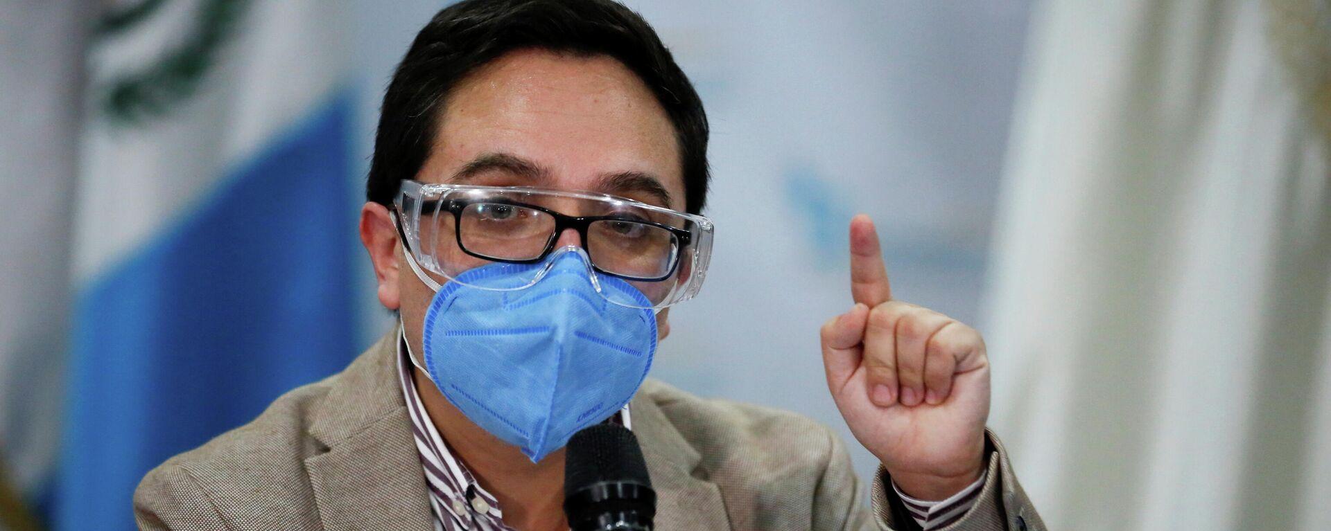 El fiscal Juan Francisco Sandoval, destituido como jefe de la Fiscalía Especial Contra la Impunidad (FECI), durante una rueda de prensa, Ciudad de Guatemala, Guatemala, el 23 de julio de 2021 - Sputnik Mundo, 1920, 24.07.2021