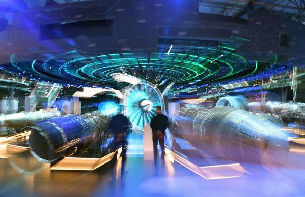El stand de la Corporación Unida de Motores en el salón aeroespacial MAKS 2021. - Sputnik Mundo