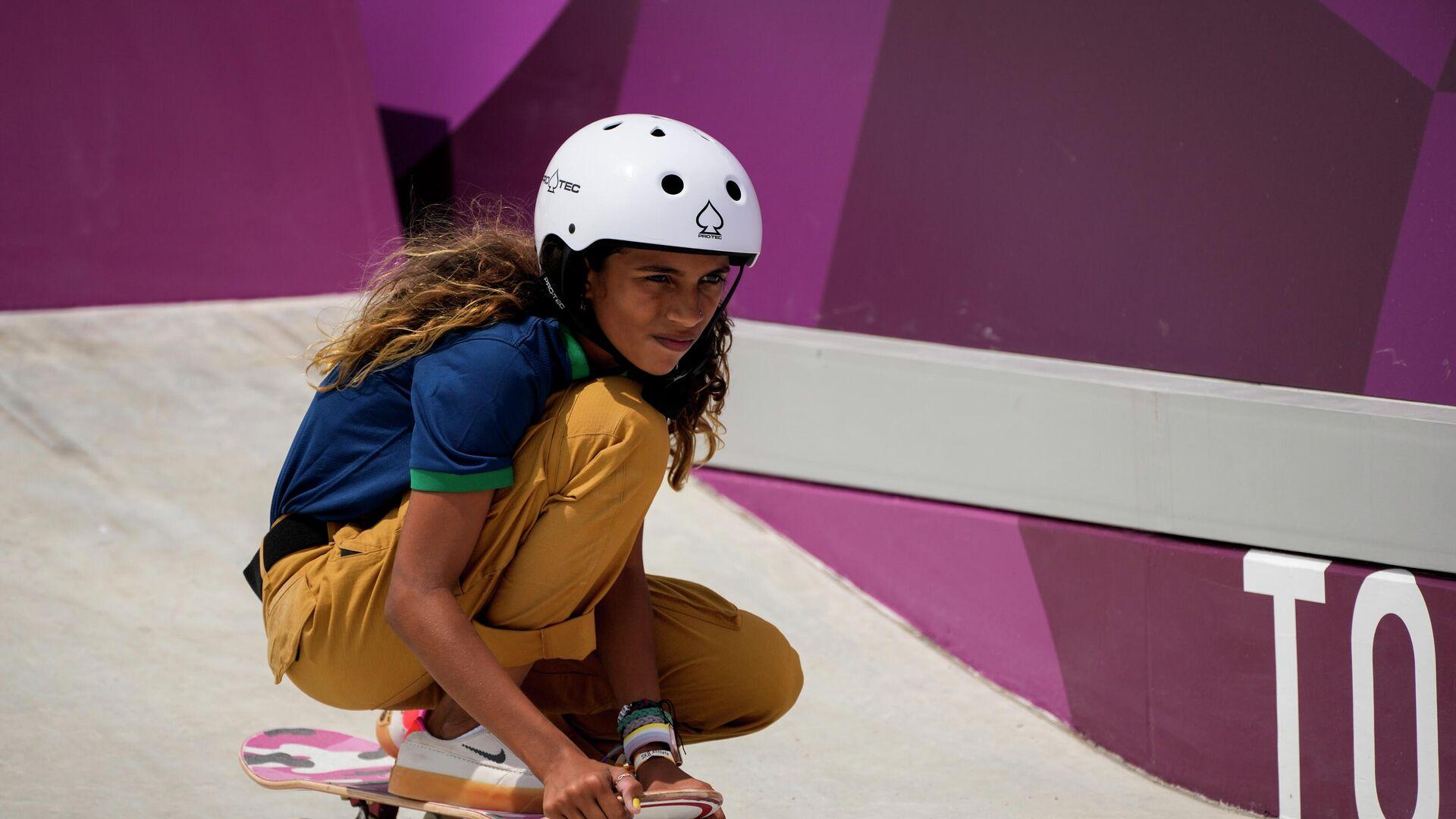 Rayssa Leal, brasileña de 13 años que logró una medalla de plata en skateboarding en los Juegos Olímpicos de Tokio 2020 - Sputnik Mundo, 1920, 26.07.2021