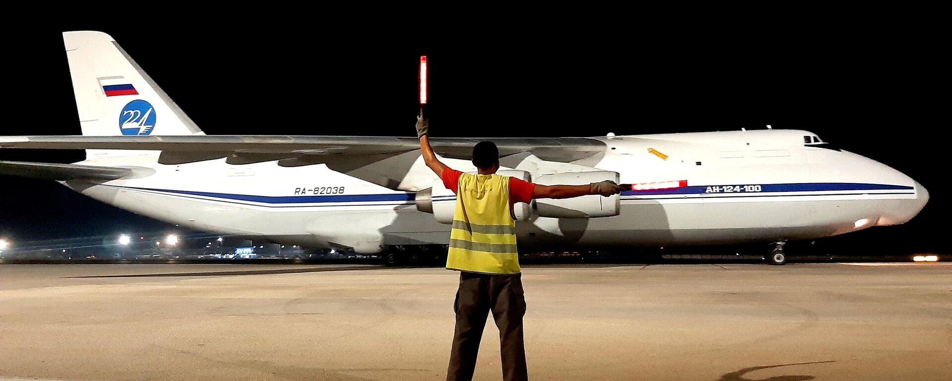 Aviones rusos An-124 Ruslan arriban a Cuba con cargamento de ayuda humanitaria - Sputnik Mundo, 1920, 26.07.2021