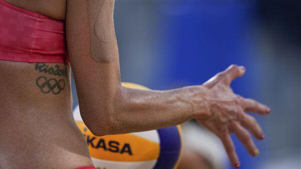 Татуировка Швейцарской спортсменки Джоаны Хайдрих в честь Олимпийских игр в Рио-де-Жанейро в 2016 - Sputnik Mundo