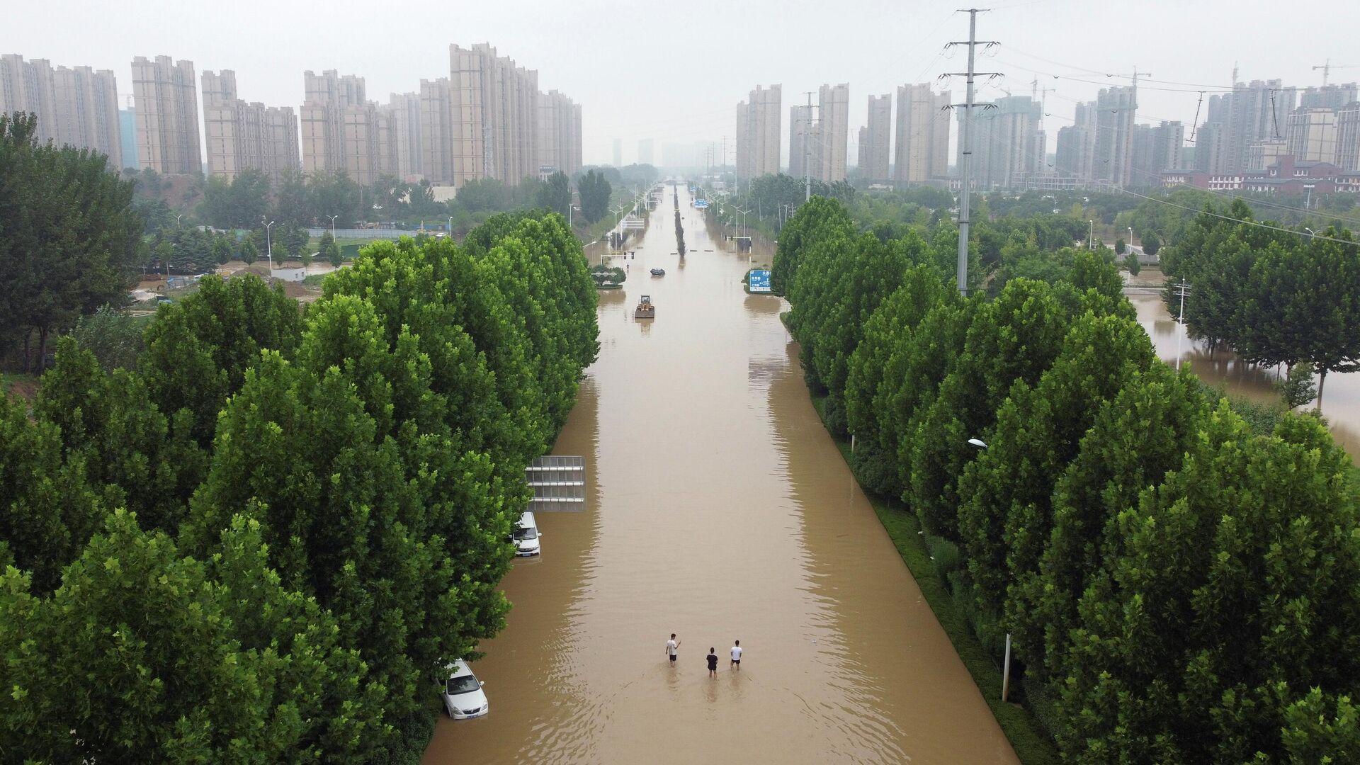 Inundaciones en China - Sputnik Mundo, 1920, 02.08.2021