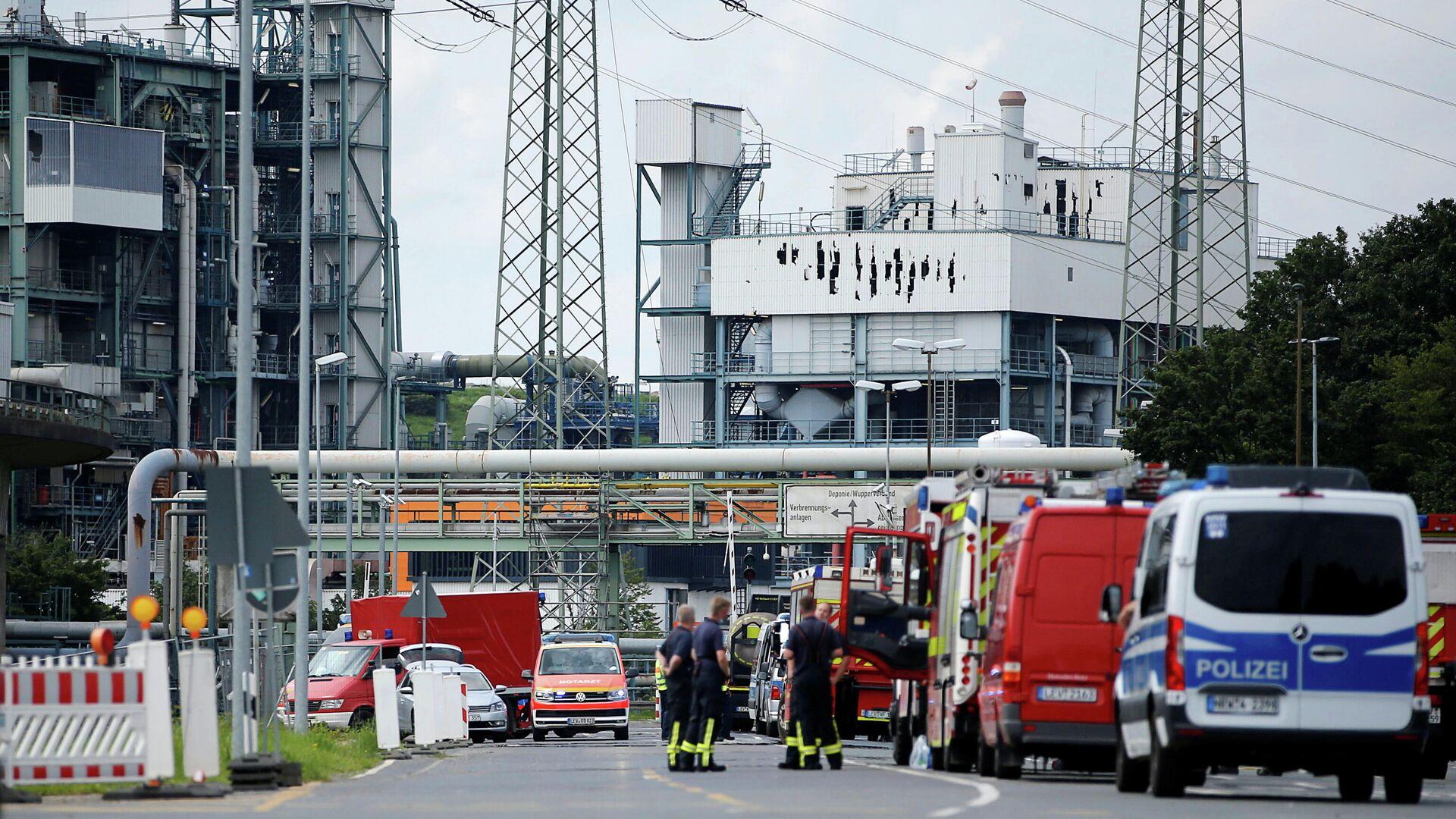 Consecuencias de la explosión en una planta química en la ciudad alemana de Leverkusen - Sputnik Mundo, 1920, 29.07.2021