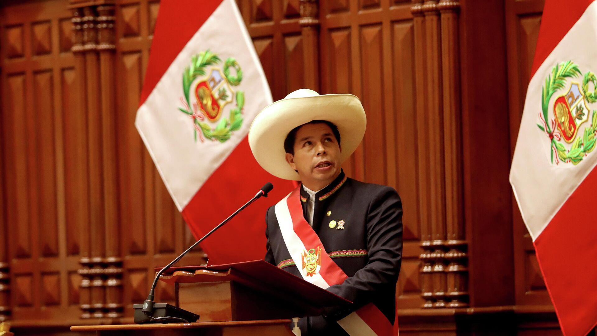 Pedro Castillo, presidente de Perú - Sputnik Mundo, 1920, 19.08.2021